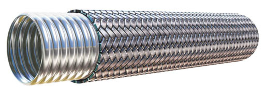 Stainless hose cut-away